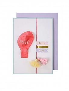 Meri Meri Pink Baby Ballon Card
