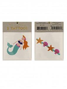 Meri Meri Tattoos γοργόνα & θάλασσα