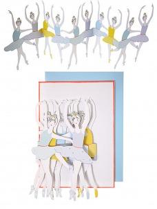 Meri Meri Ballet Dancers Banner Card