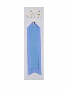 Meri Meri Blue Vinyl Ετικέτες Δώρων 6τμχ
