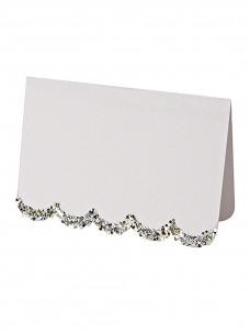 Meri Meri Silver Glitter Placecards 10τμχ