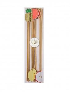 Meri Meri Καλοκαιρινά Φρούτα Ξύλινα stick 12τμχ